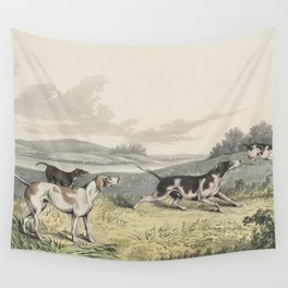 Vintage Illustration of Pointer Dogs (1846) Wall Tapestry