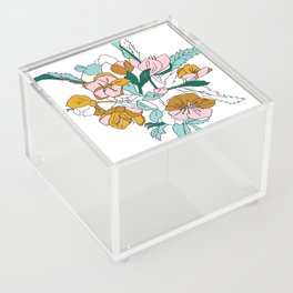 Floral Ink - Winter Roses Acrylic Box