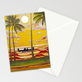 Surf Hawaii, Outrigger, Hawaiian Sunset Portrait Stationery Cards