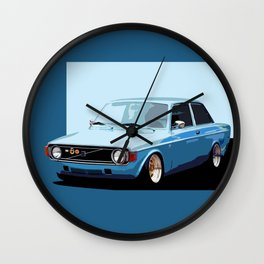 Old Classic Volvo Ilustration Wall Clock