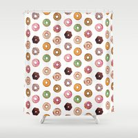 donuts Shower Curtains featuring Donuts by BySamantha | Samantha Ranlet