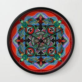 Golden Spirit Mandala Wall Clock
