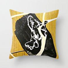 Tar Puddle Throw Pillow
