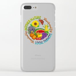 Mother Nature Local Farmer Clear iPhone Case