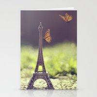 eiffel tower Stationery Cards featuring Eiffel Tower by Gabriela Da Costa