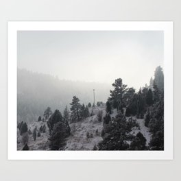 Snowy Bliss Art Print