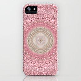 Gold Rose and Blush Boho Mandala iPhone Case