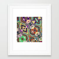 diamonds Framed Art Prints featuring Diamonds by Steve W Schwartz Art