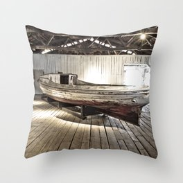 Chesapeake Workboat Throw Pillow