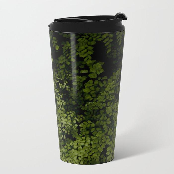 Small leaves Metal Travel Mug