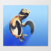 turtle Canvas Prints featuring Turtle by Anya McNaughton