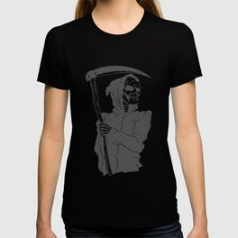 Grim reaper black and white T-shirt