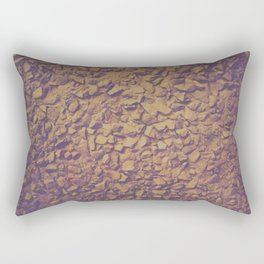 Graphic design or manipulated photography of rough wall texture with gradient colors Rectangular Pillow
