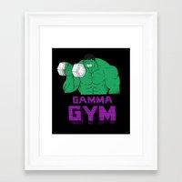 gym Framed Art Prints featuring gamma gym by Louis Roskosch