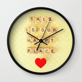 This is Our Happy Place ♥ Wall Clock