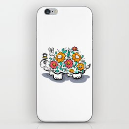 Floral Happy Turtle iPhone Skin