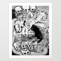 Dinner with Strippers Art Print