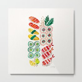 Sushi Collection Metal Print