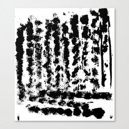 Black tyre tracks Canvas Print