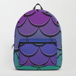 Girly Cute Blue Purple Lilac Teal Green Pink Ombre Mermaid Scales Backpack