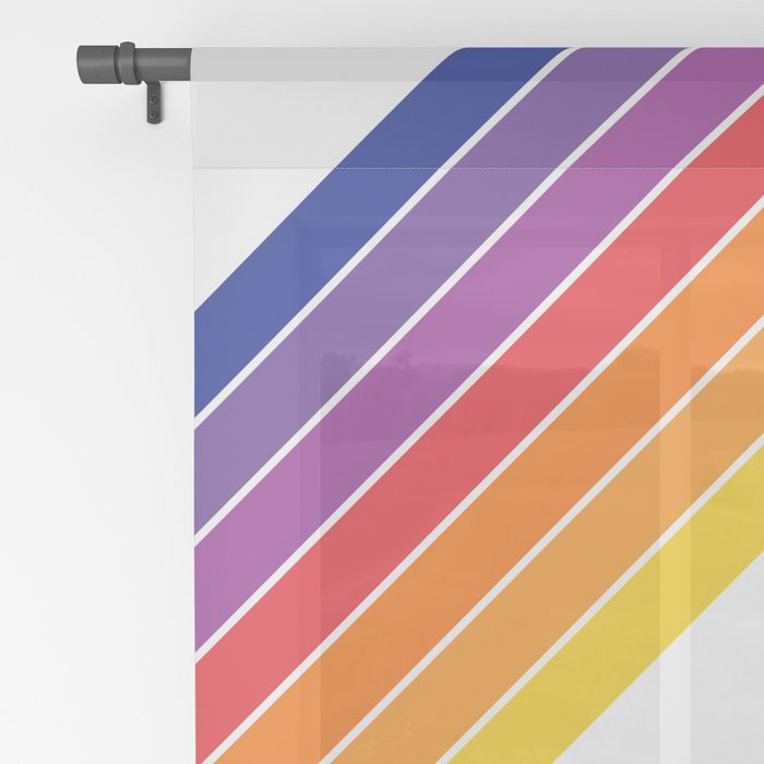 Rainbow Candy Stripe Sheer Curtain