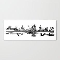 London Black and White Canvas Print