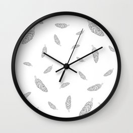 Flying Feathers Wall Clock