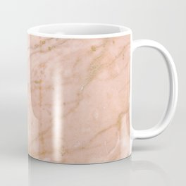 Pink marble with gold veins Coffee Mug