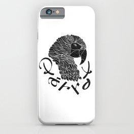 Cubism Parrot V BandW iPhone Case