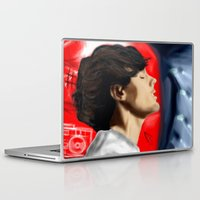 louis tomlinson Laptop & iPad Skins featuring Louis Tomlinson by Manny D