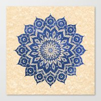 spirit Canvas Prints featuring ókshirahm sky mandala by Peter Patrick Barreda