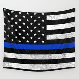 Thin Blue Line Wall Tapestry