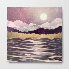Lunar Waves Metal Print