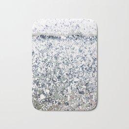 Chalk Dust Confetti Black & White Bath Mat