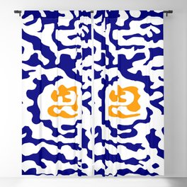 Abstraction in the style of Matisse 49 orange and blue Blackout Curtain
