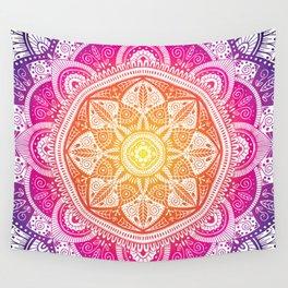 Radiant Mandala Pattern 009 Wall Tapestry