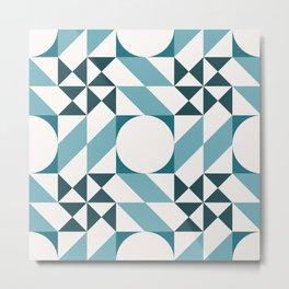 Bohemian Geometric Pattern 01A Metal Print