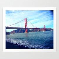 Golden Gate Pt. 2 Art Print