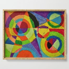 Color Explosion by Robert Delaunay Serving Tray
