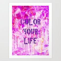 color your life - purple Art Print