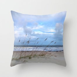 Sea Oats in the Wind Throw Pillow