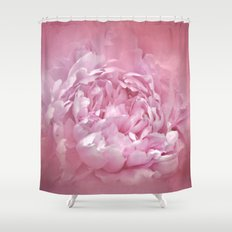 Blushing Pink Peony - Floral Shower Curtain