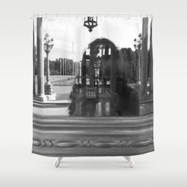 reflection of villa hügel, essen, germany Shower Curtain