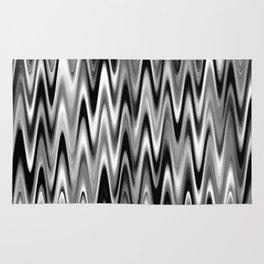 WAVY #1 (Black, White & Grays) Rug
