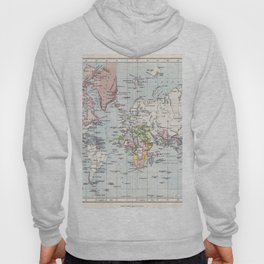 Antique Map of European Colonies Hoody