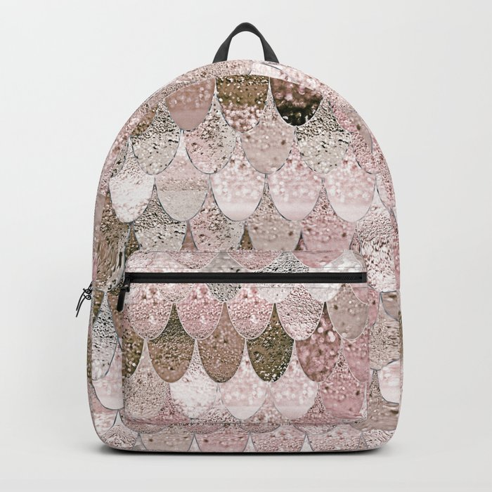 SUMMER MERMAID NUDE ROSEGOLD by Monika Strigel Backpack