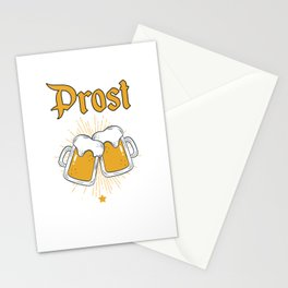 Cool Prost Oktoberfest Beer Festival German Bier Stationery Cards