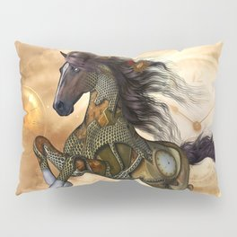 Steampunk, awesome steampunk horse Pillow Sham