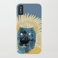 leon iPhone & iPod Cases featuring Lion leon by yael frankel