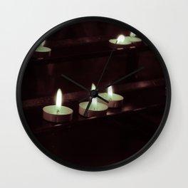 split toning candels Wall Clock